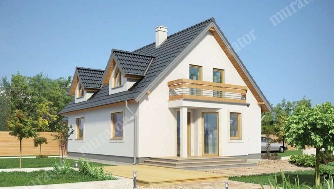 Стильный дом с двумя балконами