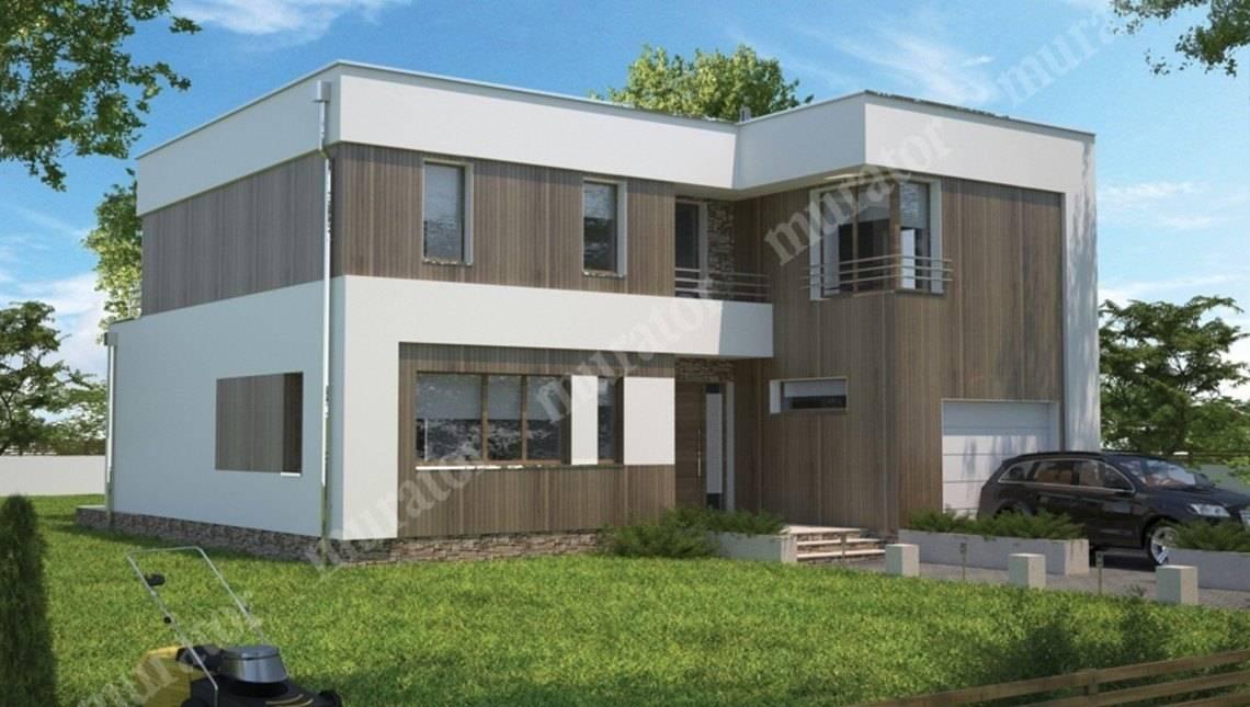 Двухэтажный дом в стиле минимализма