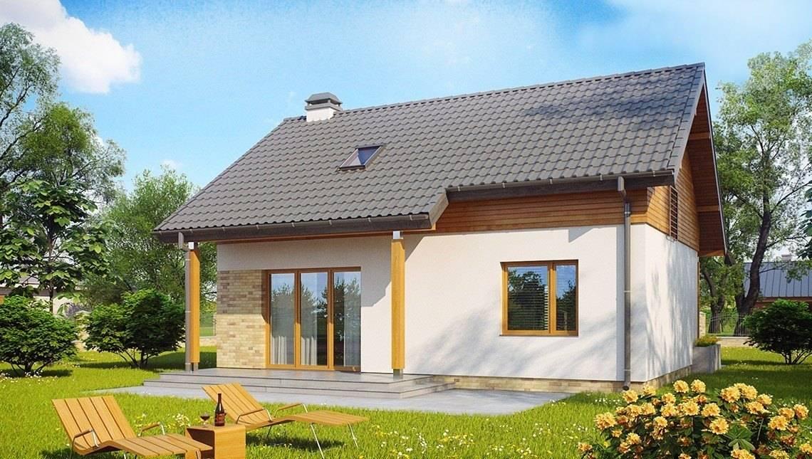 Проект небольшого уютного загородного коттеджа в классическом стиле