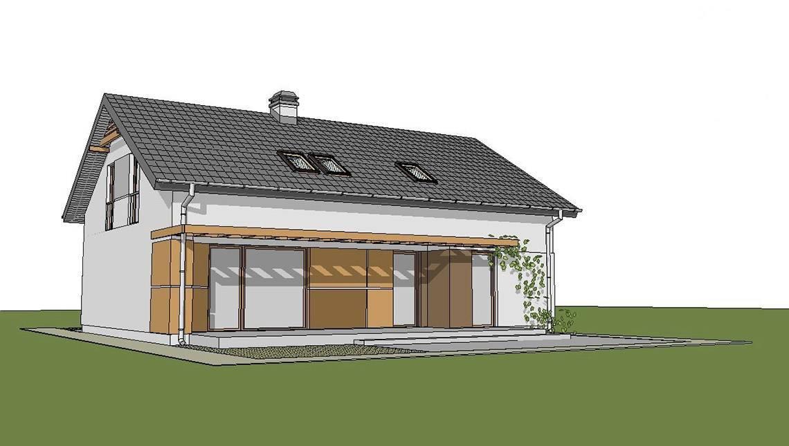 Проект дома с мансардой и гостевыми комнатами на первом этаже
