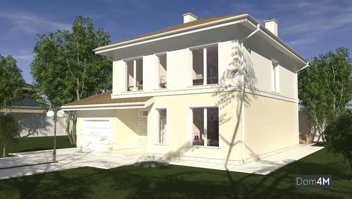 Проект яркого дома в средиземноморском стиле