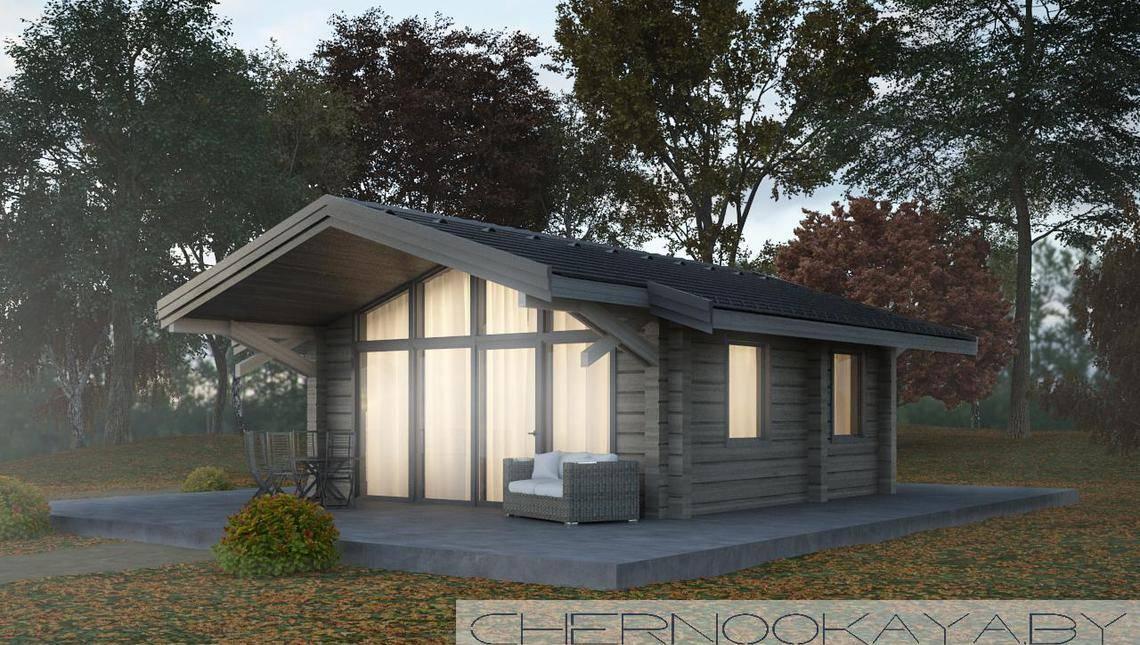 Проект деревянного домика 6 на 6