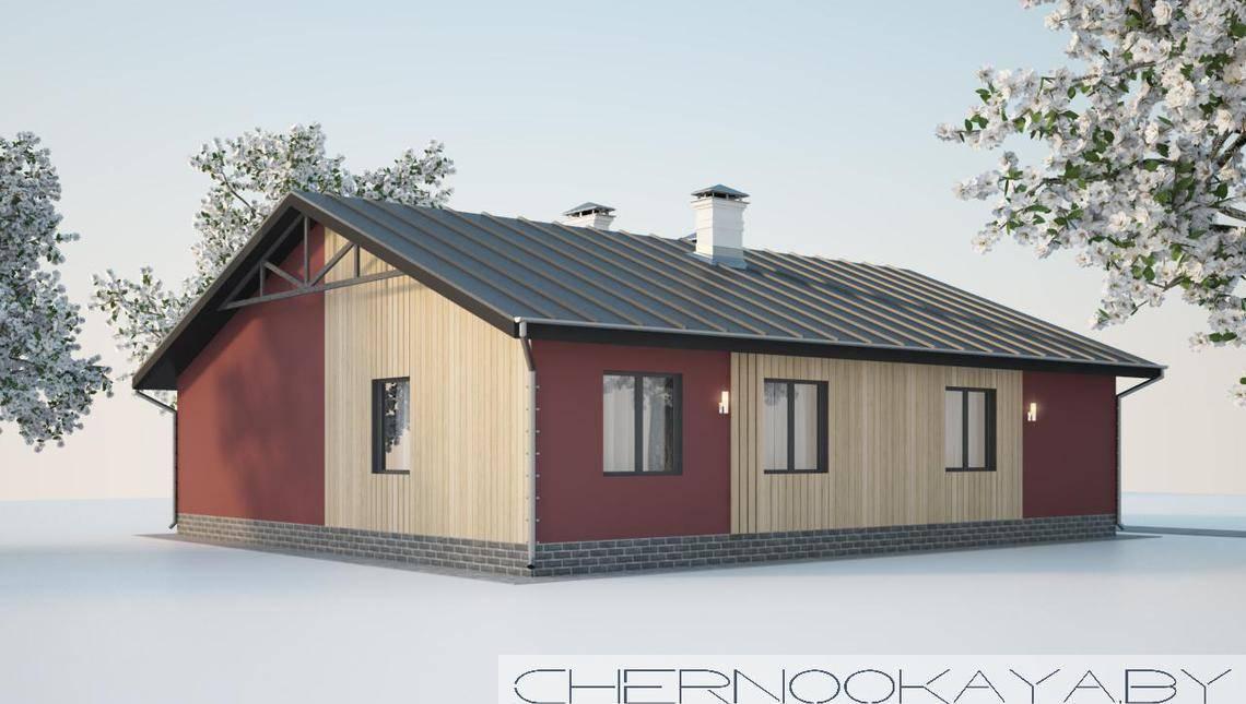 Стильное одноэтажное здание для комфортного проживания