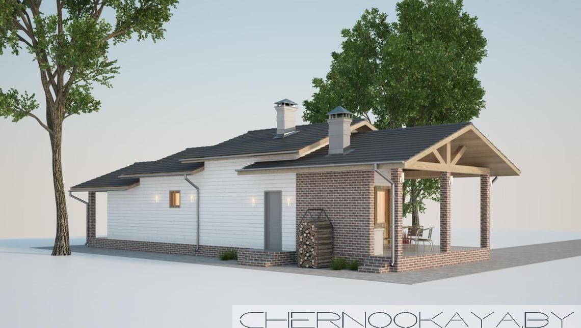 Стильный загородный дом с парной и комнатой отдыха