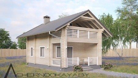 Нарядный двухэтажный особняк из дерева