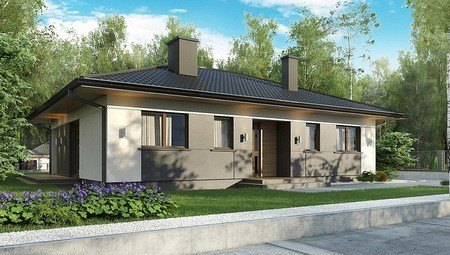 Проект компактного жилого дома на 124 кв. м для проживания небольшой семьи