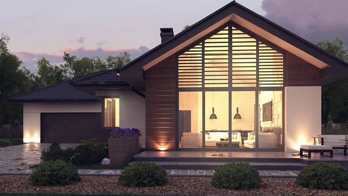 Красивый дом в стиле барнхаус