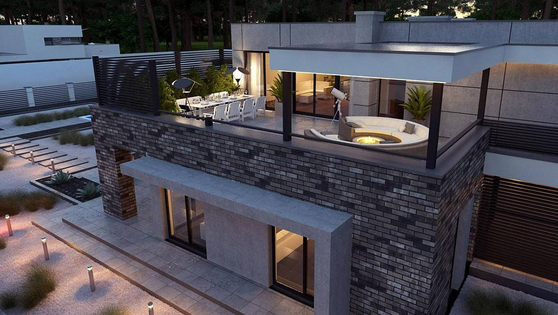 Проект шикарного особняка на 246 кв. м для большой семьи из разных поколений