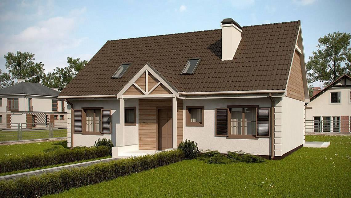 План большого дома площадью 191 кв. м с интересным экстерьером