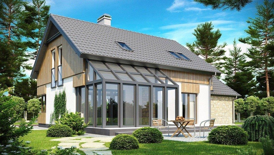 Проект дома с застекленной террасой