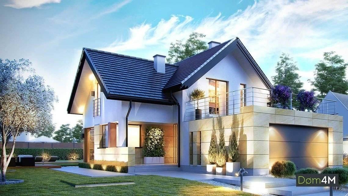 Двухэтажный дом с удобной зоной отдыха