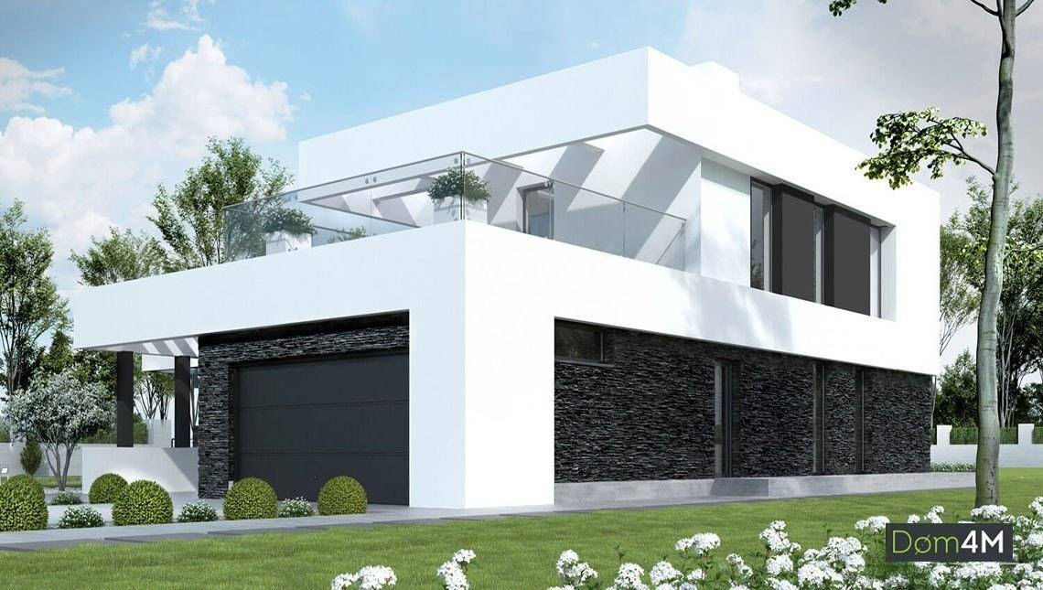 Интересный проект двухэтажного дома в стиле минимализм
