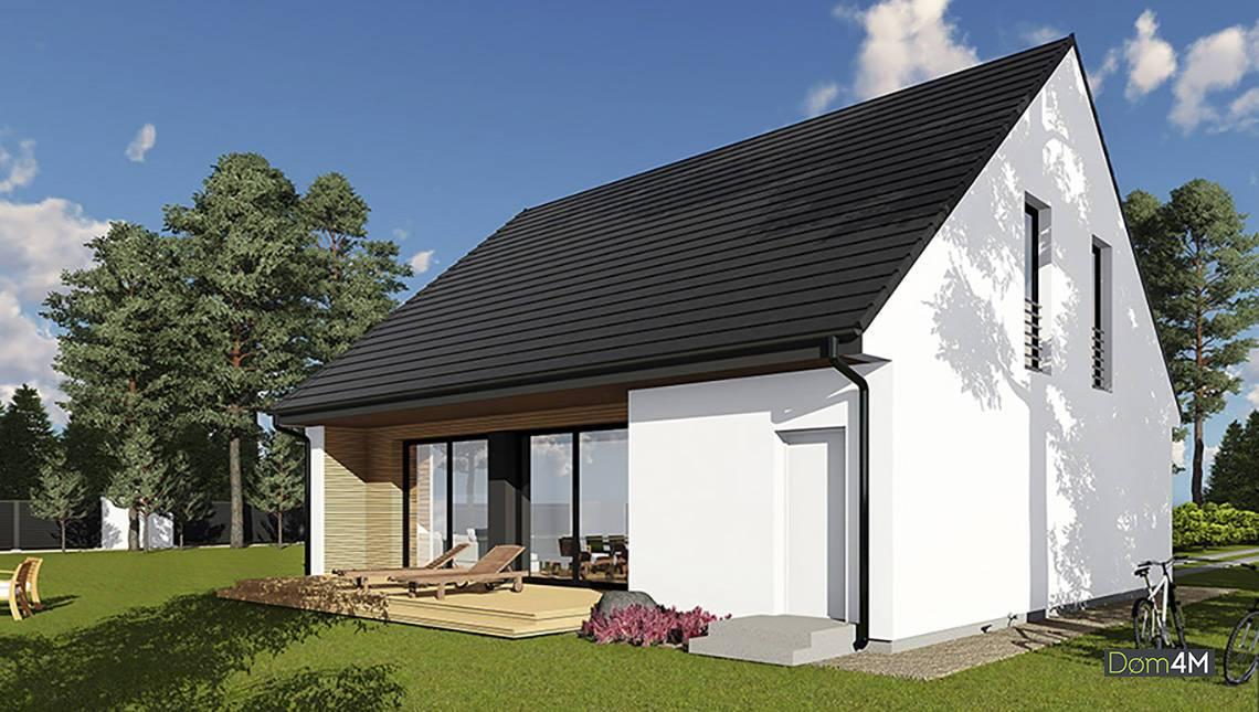 Мансардный жилой дом с восхитительной верандой