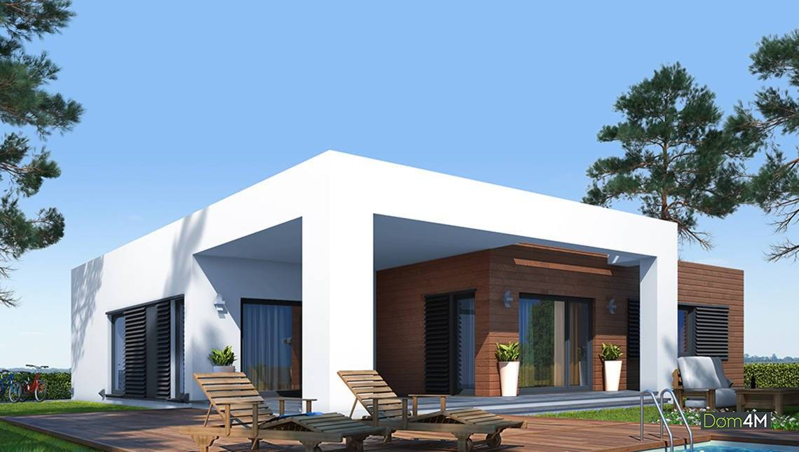 Современный дом в стиле минимализм