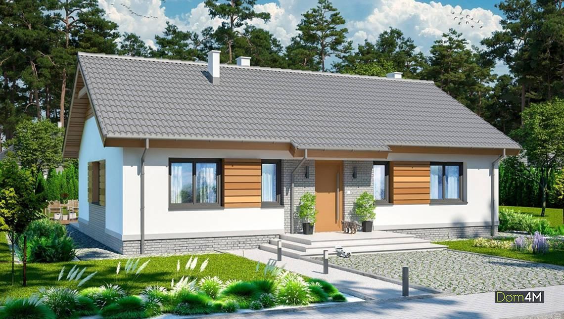 Одноэтажный дом жилой площадью 100 квадратов
