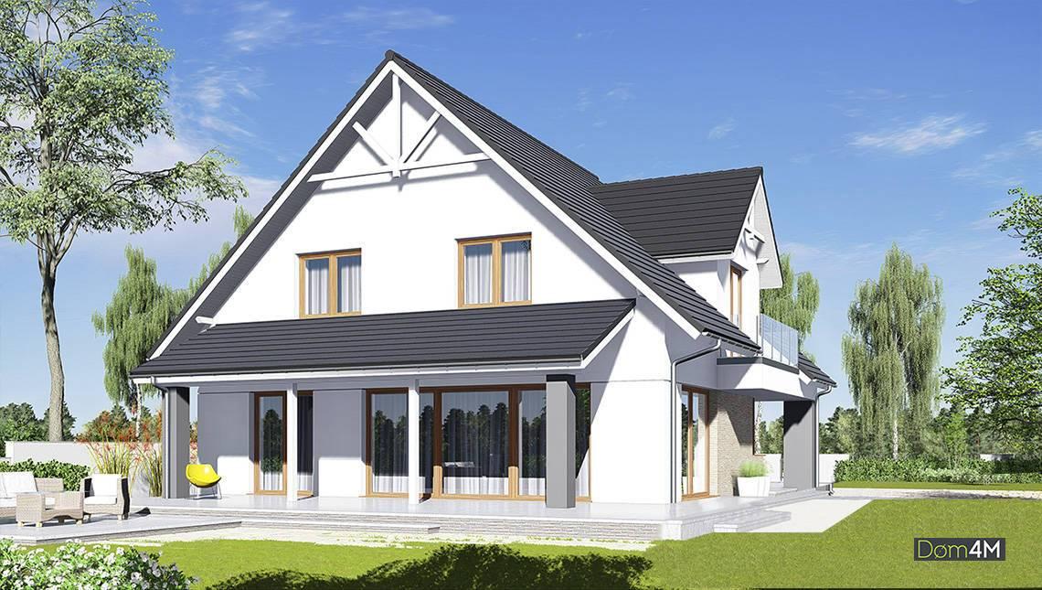 Красивый двухэтажный дом с гаражом на два авто