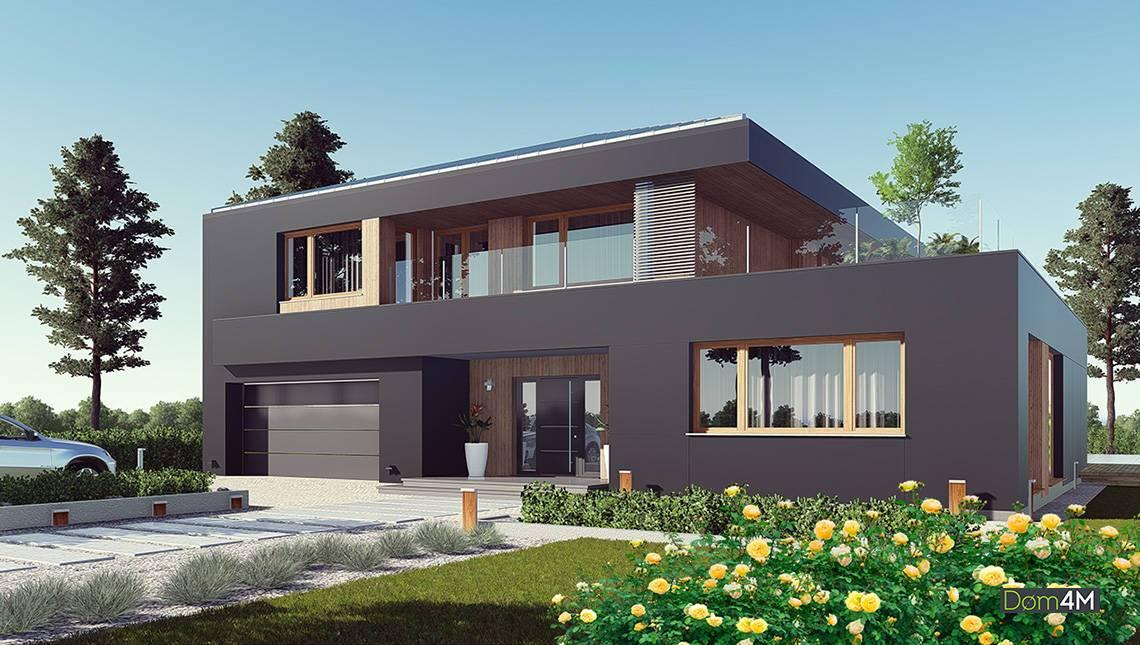 Современный жилой дом в темном цвете
