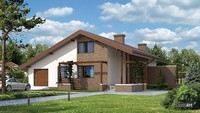 Красивый двухэтажный дом с шикарной гостиной