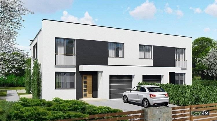 Жилой дом для проживания двух семей с красивыми балконами