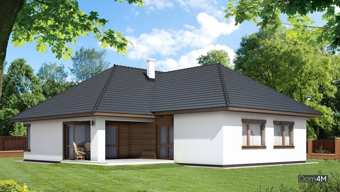 Одноэтажный жилой дом, разделенный на дневную и ночную зоны