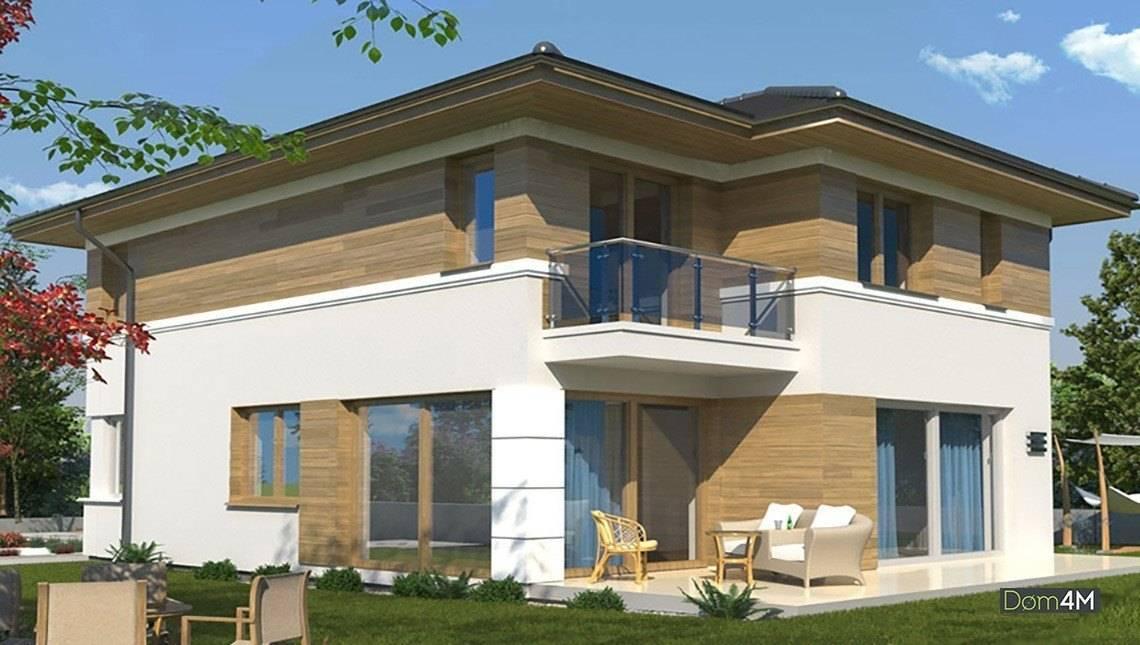 Современный дом с тремя спальнями на втором этаже