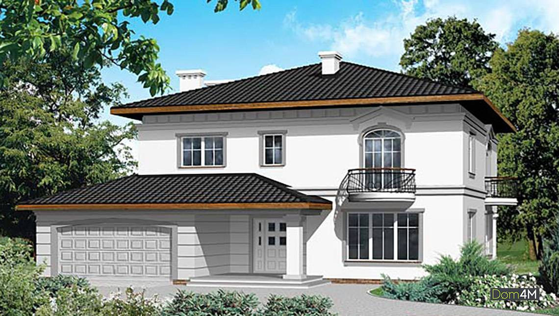 Проект классического двухэтажного особняка
