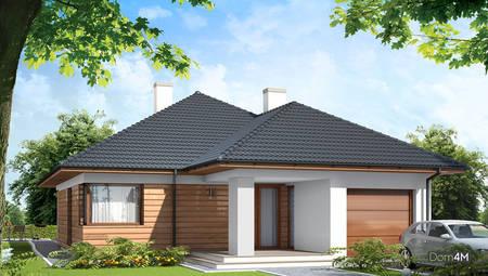 Красивый дом для загородного участка жилой площадью в 60 квадратов