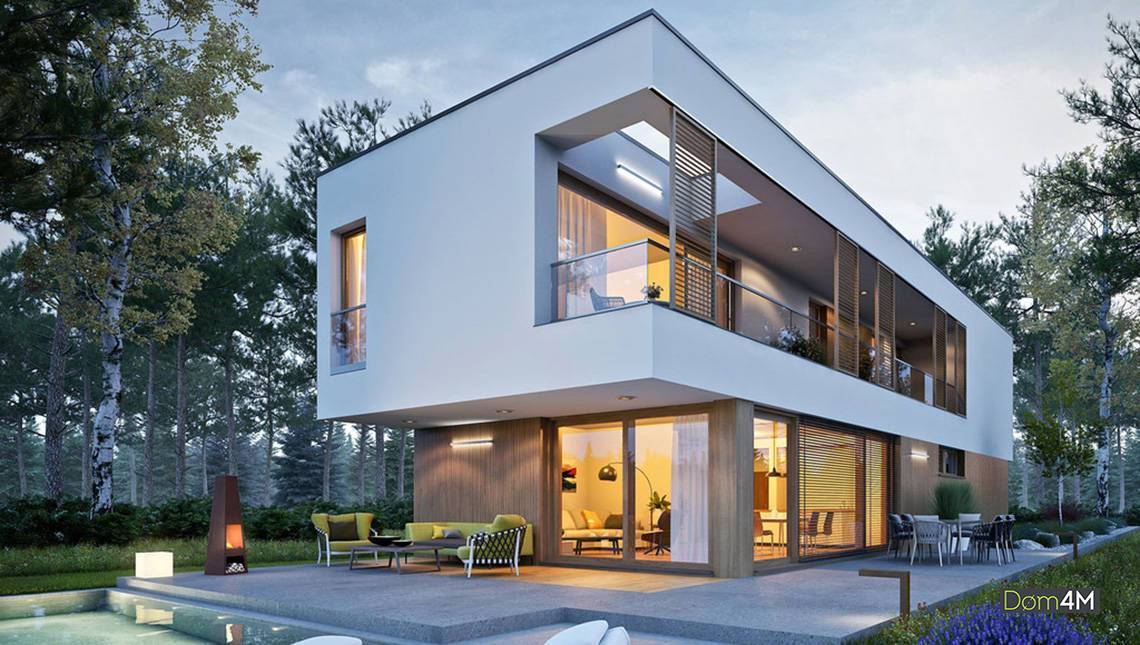 Шикарный двухэтажный узкий дом