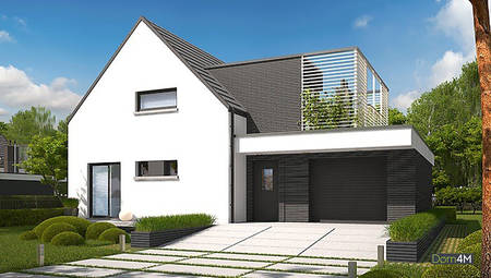 Стильный загородный двухэтажный дом