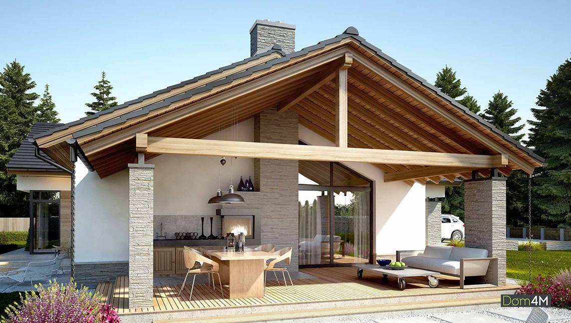 Стильный жилой дом Г-образной формы