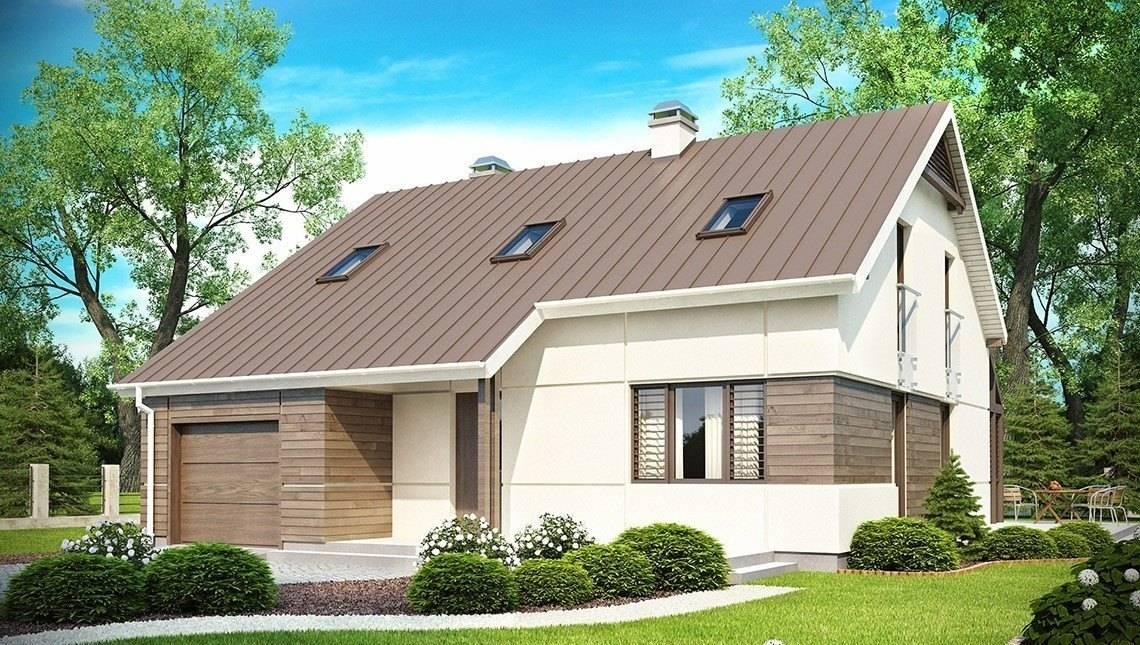 Проект дома с мансардой, дополнительной спальней, застекленной террасой