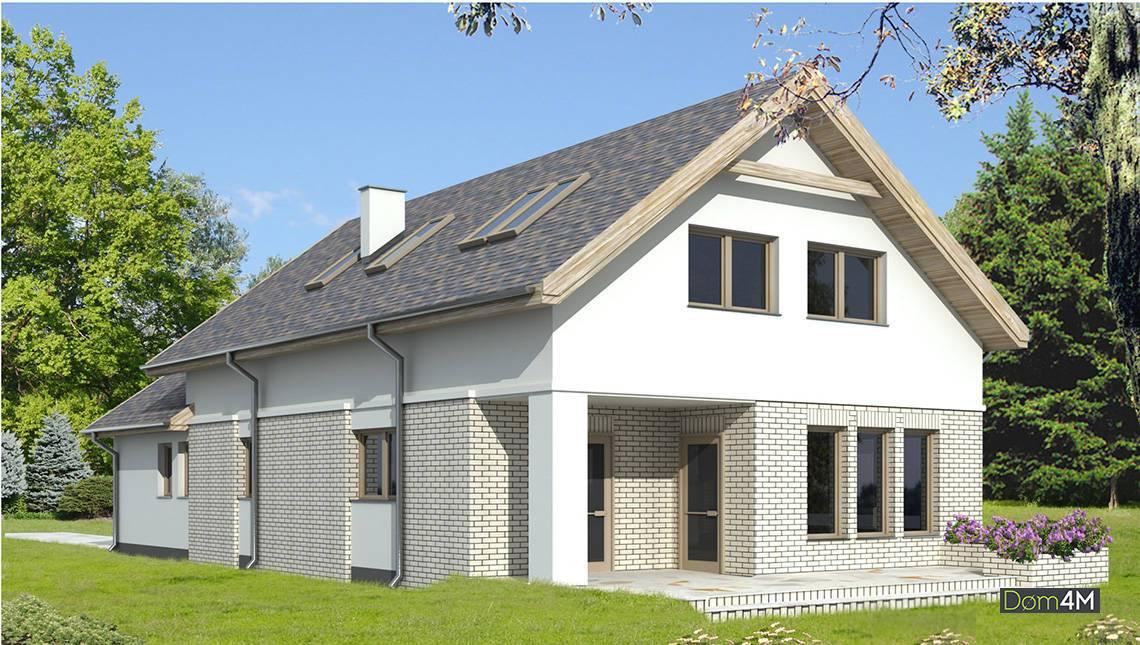 Светлый стильный двухэтажный дом