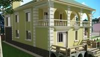 Классический стильный дом - украшение загородного участка