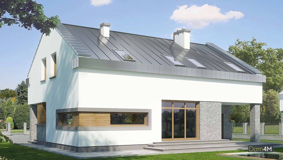 Проект солидного загородного дома с пятью спальнями