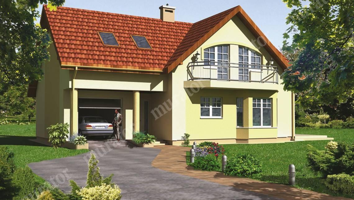Проект красочного двухэтажного дома с 5 спальнями, гаражом и интересной гостиной