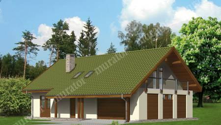 Проект живописного жилого дома с 4 спальнями и гаражом на две машины