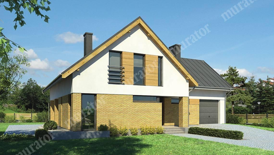 Красивый декорированный кирпичом жилой дом с гаражом и 5 спальнями