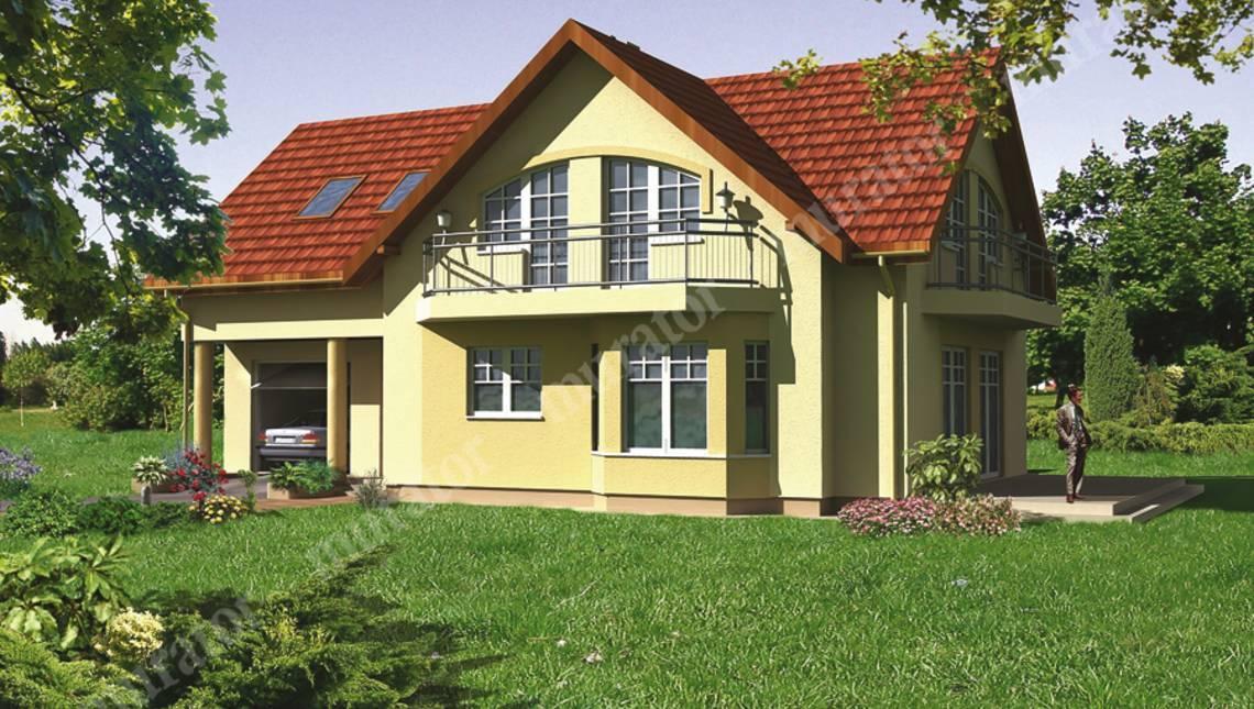 Великолепный дом с двумя ажурными балконами