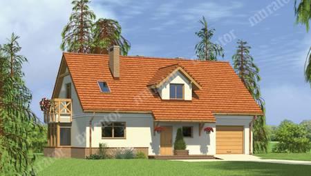 Проект мансардного дома с просторными спальнями