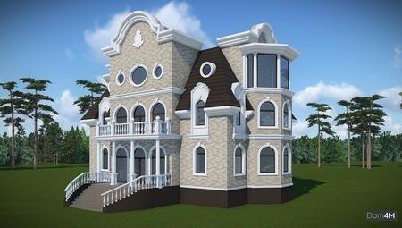 Проект четырехэтажного особняка