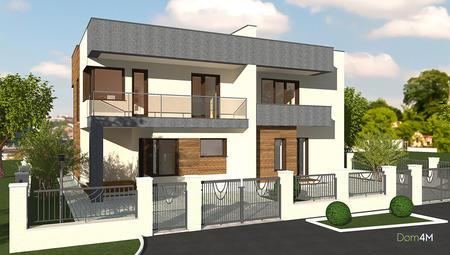 Проект двухэтажного жилого дома на две семьи