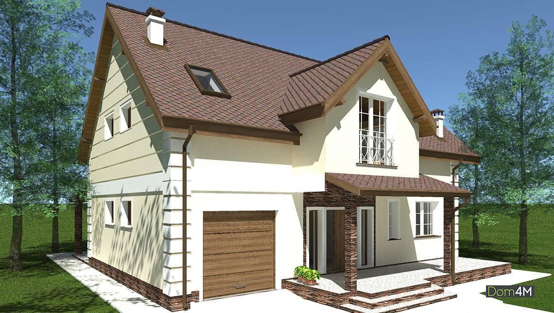 Проект шикарного загородного дома с эркером и красивыми балкончиками