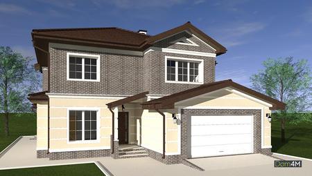 Красивая планировка двухэтажного дома с роскошными апартаментами для хозяина