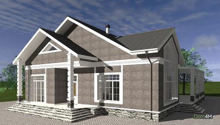 Уникальная планировка одноэтажного дома на 5 спален и 6 санузлов