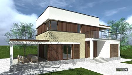 Проект уютного двухэтажного дома с просторными верандами и террасами