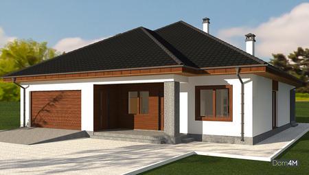 Проект изящного одноэтажного дома с вместительным гаражом