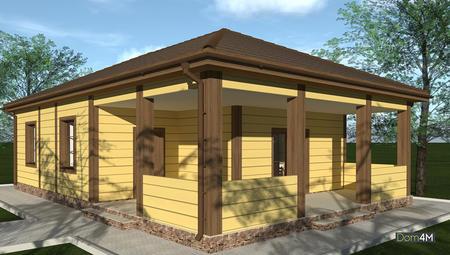 Оригинальный жилой дом для сезонного проживания