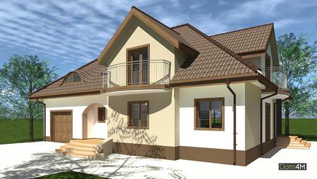 Эффектный жилой дом с оригинальной крышей