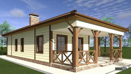 Проект великолепного одноэтажного дома с камином и мангалом