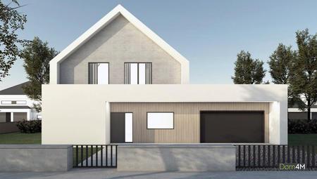 Проект коттеджа с стиле барнхаус с просторным гаражом